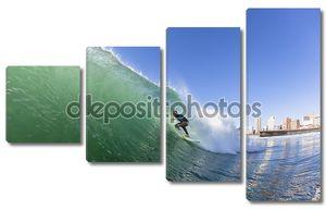Серфинг под волной