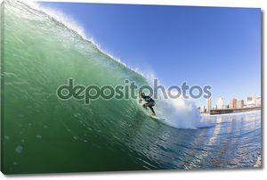 Серфинг воды действий Дурбанской