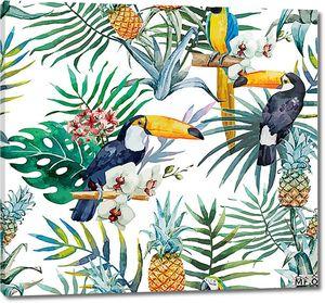 Туканы в пальмовых листах