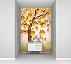 Дерево на горном фоне