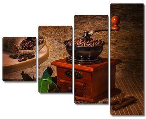 Кофемолка с кофейными зернами