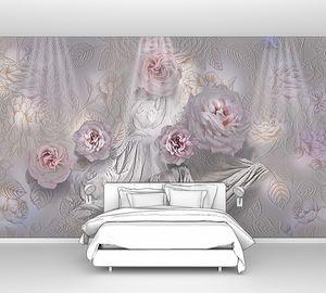 Розовые розы - абстракция