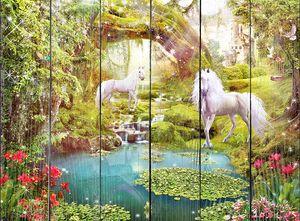 Сказочный лес и лошади