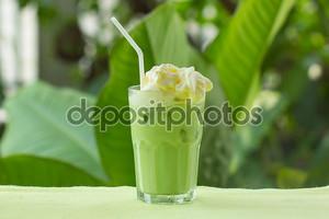 Порка крем долива зелёного чая маття