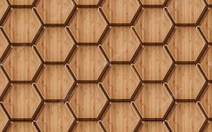 Деревянный фон из шестиугольников