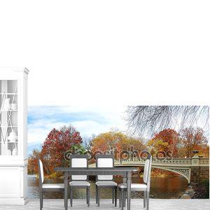 Манхэттен Нью-Йорке Центральный парк панорама на осень