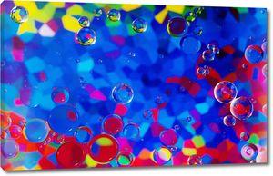 Пузырики на разноцветном фоне