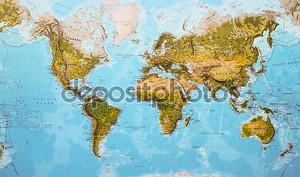 мир физической карте