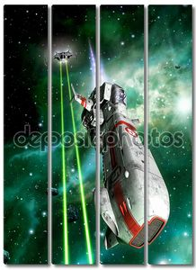Рукопашный бой космических истребителей