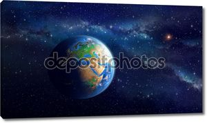 Планета Земля в глубоком космосе