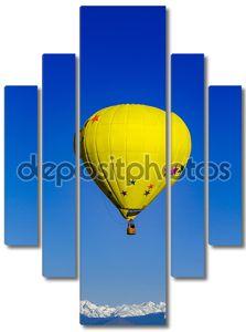 Скалистые горы горячим воздухом воздушный шар фестиваль