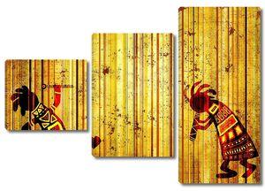 Африканские танцующие музыканты
