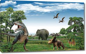 Динозавры в лесу