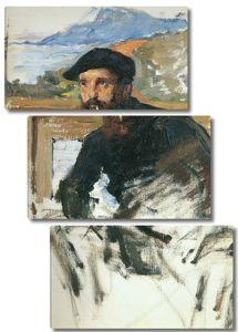 Моне Клод. Автопортрет в мастерской (деталь), 1885