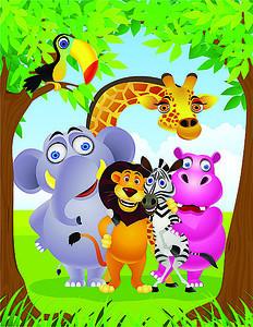 Звери в джунглях