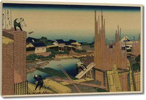 Кацусика Хокусай. Река Татэкава в Хондзе