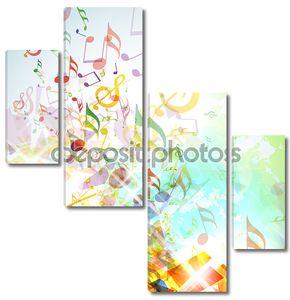 Абстрактный разрушенной музыка фона заметок