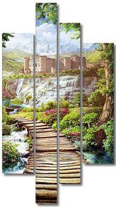Дорога ведущая к невероятному водопаду и замку