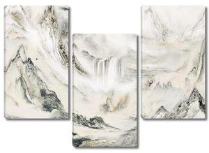 Водопад  разрезающий горы