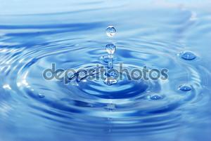 Прозрачная капля воды
