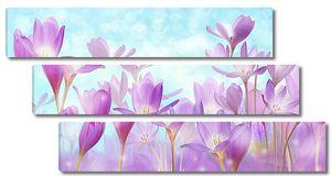 Красивые фиолетовые абстрактные цветы