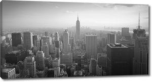 Вид на Нью-Йорк с высоты птичьего полета