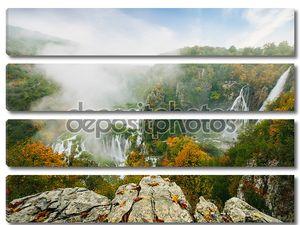 Величайший водопад в Всемирного наследия ЮНЕСКО национального парка Плитвицкие озера, Хорватия