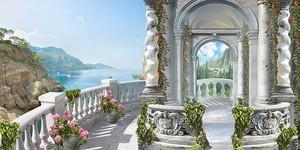 Белоснежная терраса с видом на море