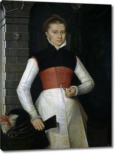 Кроненбурх Адриан ван. Дама с цветком амариллиса