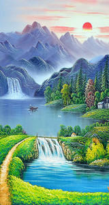 Водопад через запруду