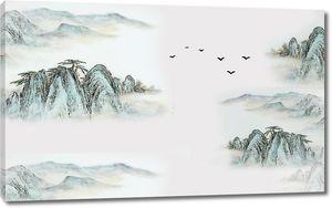 Скалы с туманом