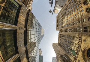 Вид сверху на Манхэттен Tall Skyscrapers - New York Ci