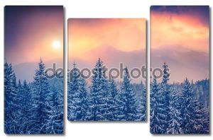 Закат в горах Карпатских