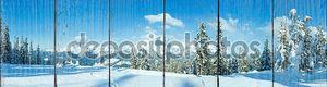 Зимние горные панорамы с заснеженных деревьев (Фильцмоса, Австрия)