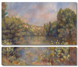 Пьер Огюст Ренуар. Пейзаж с озером