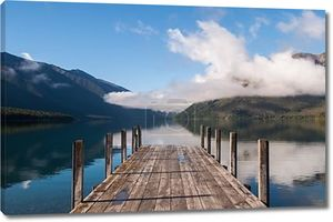 спокойная сцена в nelson национальном парке озера в острове Южный Новой Зеландии