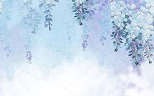 Свисающие сверху цветочные лианы