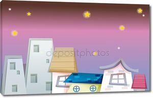 Дом под ночным небом