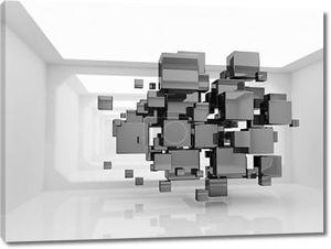 Абстрактный кубов в футуристический номер