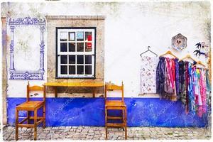 Красочный магазин Старого города в Португалии