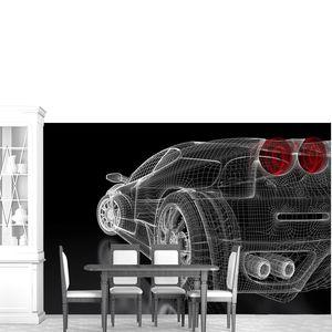 Чертеж спортивный автомобиль