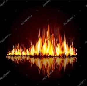 Фон с горящего пламени