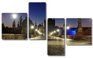 Пражский Карлов мост на рассвете