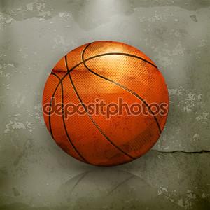 баскетбол, старый стиль вектор