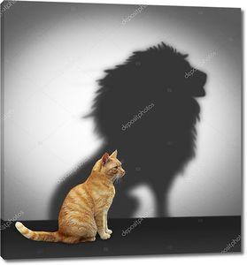 Кошка с тенью льва