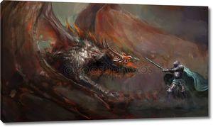 Рыцарь, поражающим дракона