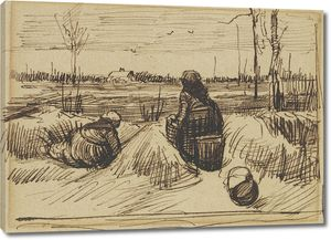 Ван Гог. Две женщины, работающие на полях