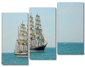 красивое старое парусное судно