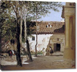 Аэс Карлос де. Двор монастыря Пьедра