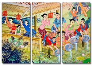 Искусство живописи культуры тайского стиля